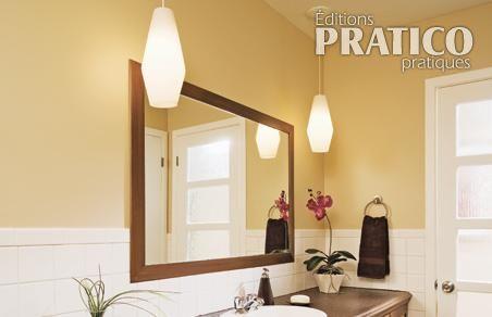 poser des moulures sur un miroir en tapes d coration et r novation pratico pratique. Black Bedroom Furniture Sets. Home Design Ideas