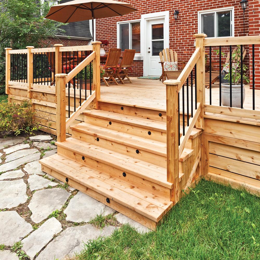 Extrêmement Fabriquer un escalier de patio - En étapes - Jardinage et  ET96