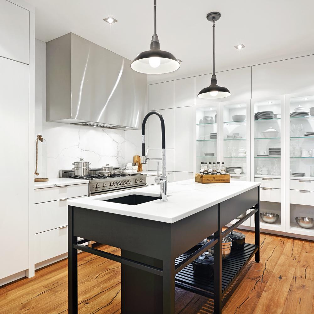Noblesse en mode industriel dans la cuisine cuisine inspirations d coration et r novation - Gonthier cuisine et salle de bain ...