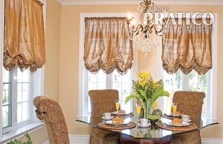 rideaux de style dans une salle manger luxueuse salle manger inspirations d coration. Black Bedroom Furniture Sets. Home Design Ideas