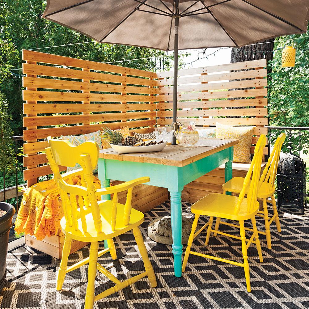 transfo coin repas ext rieur moins de 500 salle manger avant apr s d coration et. Black Bedroom Furniture Sets. Home Design Ideas