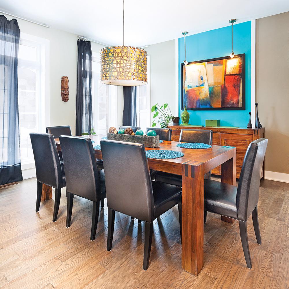 color zoning r ussi dans la salle manger salle manger inspirations d coration et. Black Bedroom Furniture Sets. Home Design Ideas