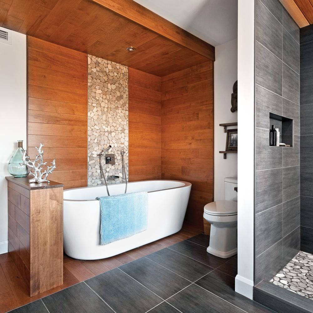 Duo terre et mer dans la salle de bain salle de bain for Deco salle de bain la mer