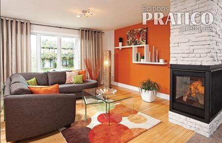 un salon p tillant et chaleureux salon inspirations d coration et r novation pratico. Black Bedroom Furniture Sets. Home Design Ideas