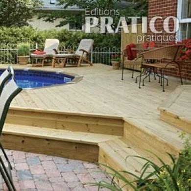 Deck de piscine en ville plans et patrons jardinage et for Patio exterieur plan