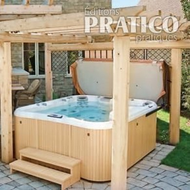 spa sous la pergola inspirations jardinage et ext rieur pratico pratique. Black Bedroom Furniture Sets. Home Design Ideas