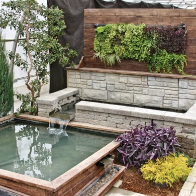 mur v g tal et jardin d 39 eau cour inspirations jardinage et ext rieur pratico pratique. Black Bedroom Furniture Sets. Home Design Ideas