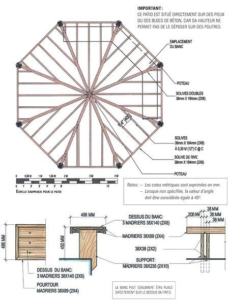 plan banc en bois fabulous plan banc de jardin sur idee. Black Bedroom Furniture Sets. Home Design Ideas