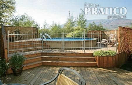 Construire un deck de piscine angles plans et patrons for Plan de deck de piscine
