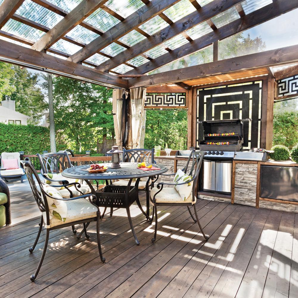 un coin repas bien l 39 abri patio inspirations jardinage et ext rieur pratico pratique. Black Bedroom Furniture Sets. Home Design Ideas