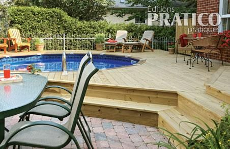 deck de piscine en ville plans et patrons jardinage et ext rieur pratico pratique. Black Bedroom Furniture Sets. Home Design Ideas