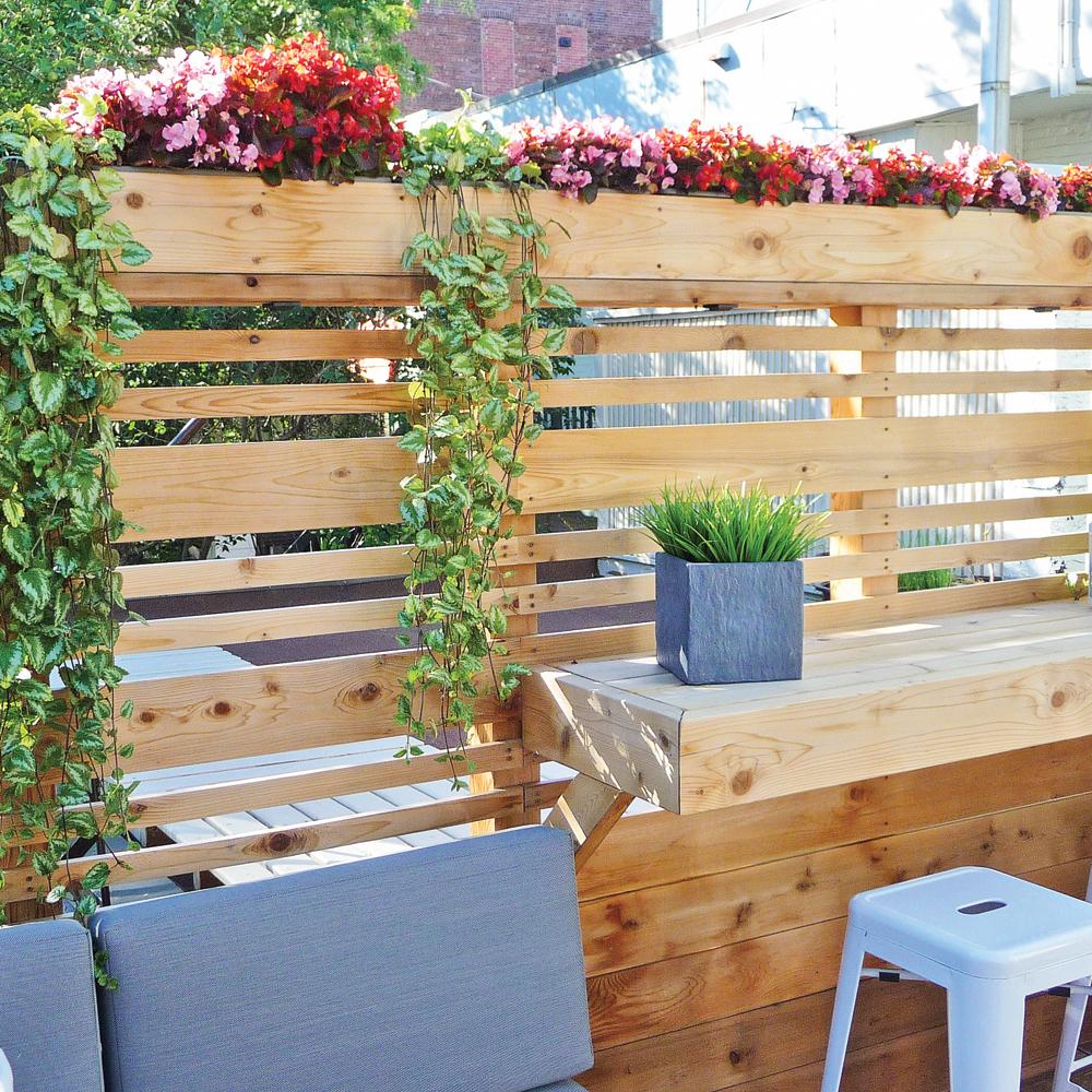Balcon tout de bois vêtu!  Patio  Inspirations  Jardinage et  ~ Balcon Exterieur Bois