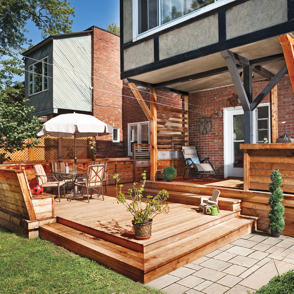 Terrasse en bois multifonction patio inspirations - Barbecue de terrasse ...