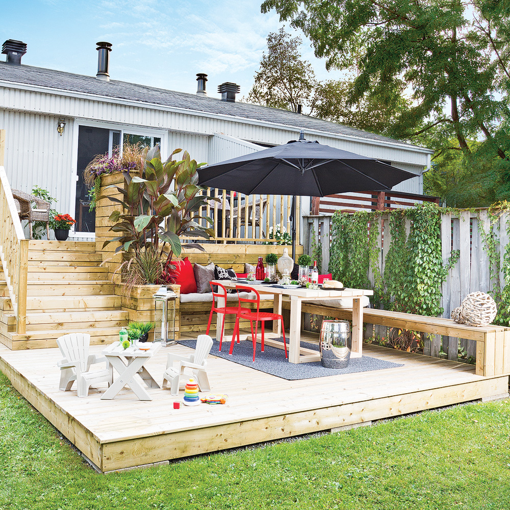 Patio deux niveaux patio inspirations jardinage et ext rieur pratic - Photo patio exterieur ...