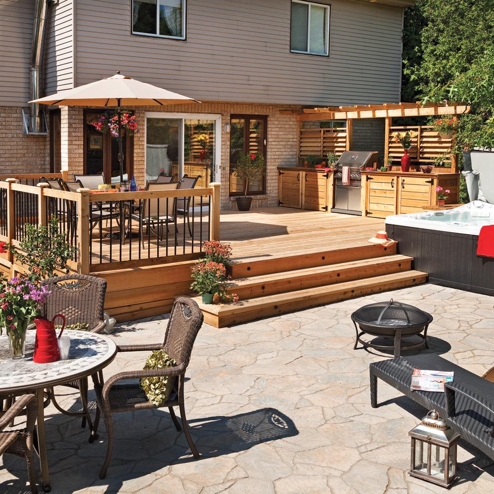 coin repas sous la tonnelle patio inspirations jardinage et ext rieur pratico pratique. Black Bedroom Furniture Sets. Home Design Ideas