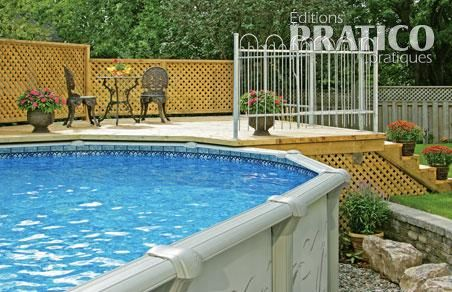 Int gration harmonieuse de la piscine plans et patrons for Patio design piscine hors terre