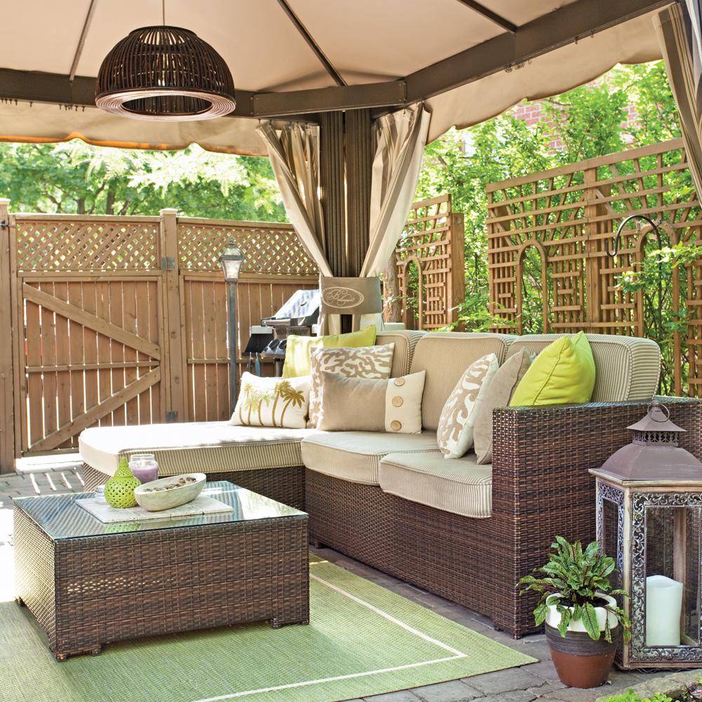 Coin d tente ext rieur de style exotique cour inspirations jardinage et ext rieur - Salon de detente exterieur ...