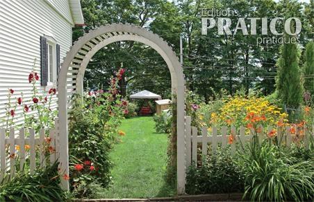 arche invitante dans le jardin inspirations jardinage et ext rieur pratico pratique. Black Bedroom Furniture Sets. Home Design Ideas