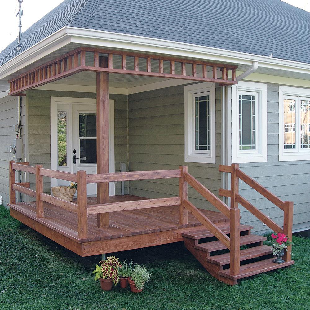 Exceptionnel Fabriquer escalier et garde-corps pour le patio - En étapes  ZG22