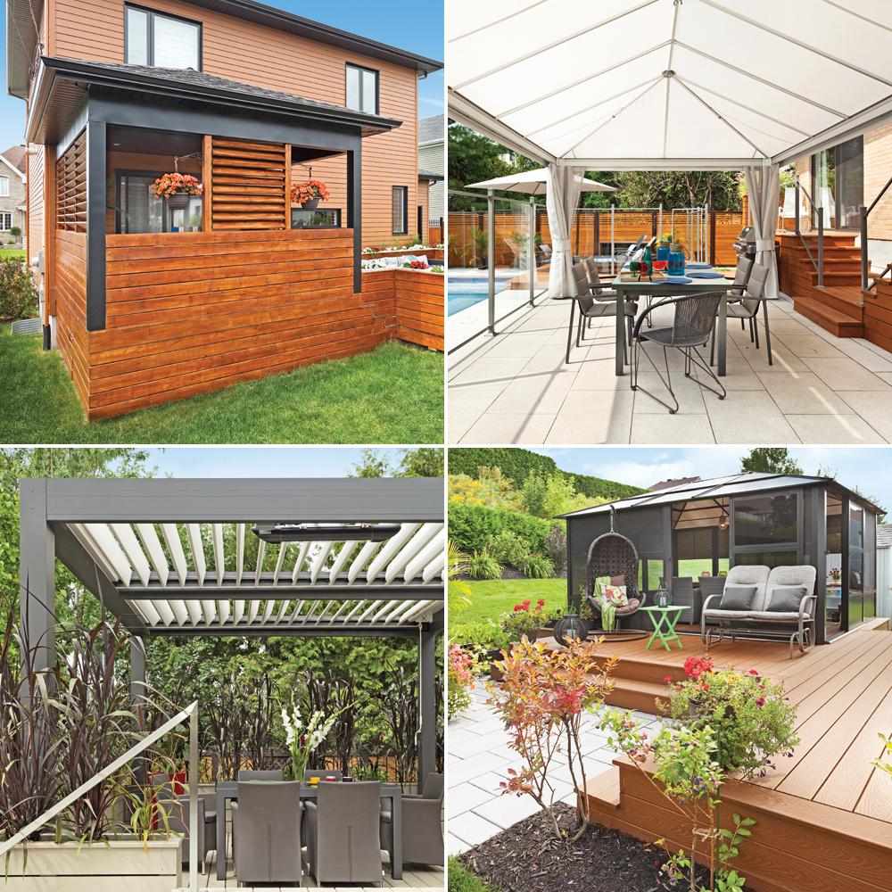 6 solutions ing nieuses pour profiter du patio beau temps for Couvre plancher pour patio exterieur