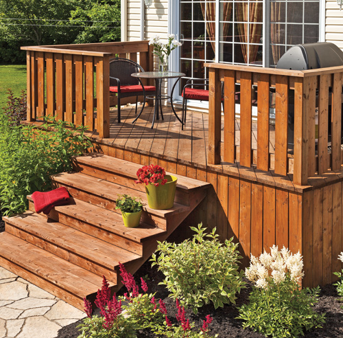 30 styles de garde corps pour un look unique patio for Plan de patio exterieur en bois