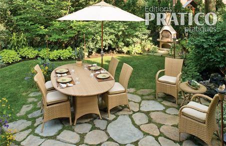 Chic mobilier dans un jardin urbain patio inspirations jardinage et ext rieur pratico - Mobilier de jardin en pierre villeurbanne ...