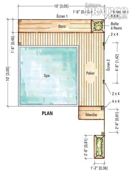 plans pour cr er un cran pr s d 39 un spa plans et patrons jardinage et ext rieur pratico. Black Bedroom Furniture Sets. Home Design Ideas