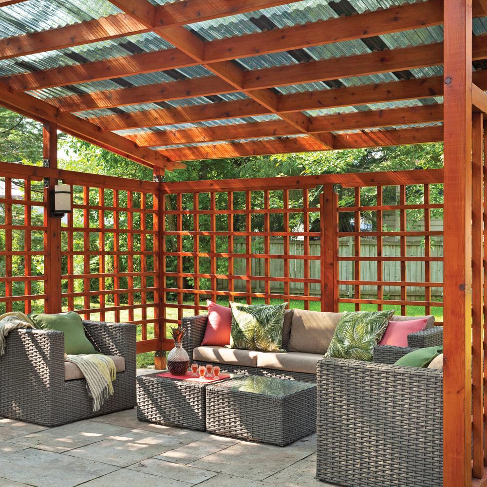 Plan d 39 am nagement un patio vaste et pur patio for Patio exterieur plan