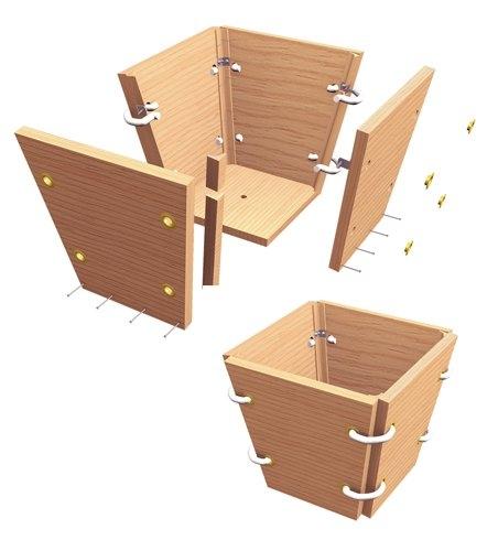 boite a fleur en bois plan id es de. Black Bedroom Furniture Sets. Home Design Ideas
