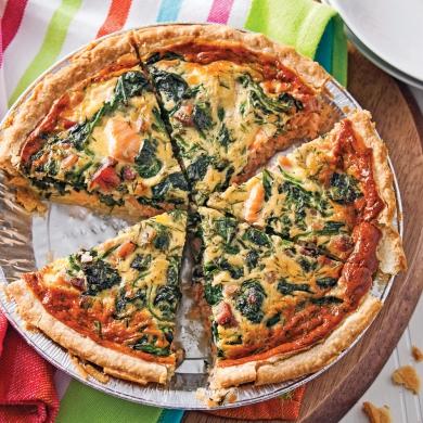 Quiche au saumon recettes cuisine et nutrition for Decoration quiche