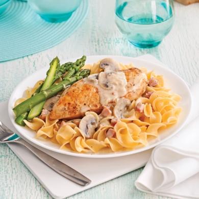 poitrines de poulet au vin blanc et champignons recettes cuisine et nutrition pratico pratique. Black Bedroom Furniture Sets. Home Design Ideas