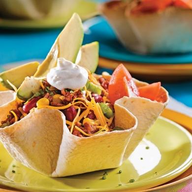 salade mexicaine en fleurs de tortillas recettes. Black Bedroom Furniture Sets. Home Design Ideas