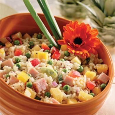 Salade de riz antillaise recettes cuisine et nutrition - Recette de cuisine antillaise facile ...