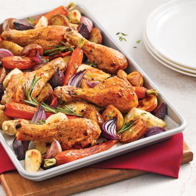 pilons de poulet aux l gumes racines recettes cuisine et nutrition pratico pratique. Black Bedroom Furniture Sets. Home Design Ideas