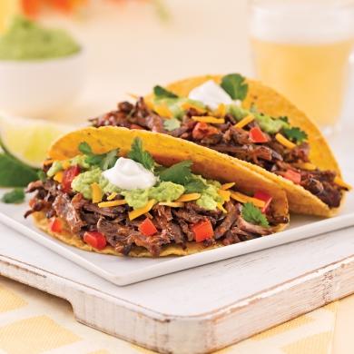 tacos au boeuf effiloch recettes cuisine et nutrition. Black Bedroom Furniture Sets. Home Design Ideas