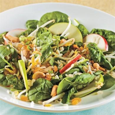 salade d 39 pinards et pommes l 39 asiatique recettes cuisine et nutrition pratico pratique. Black Bedroom Furniture Sets. Home Design Ideas