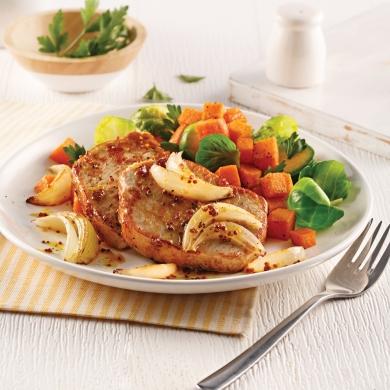 C telettes de porc sauce miel et cari recettes cuisine et nutrition pratico pratique - Cotelette de porc coupe hotel ...