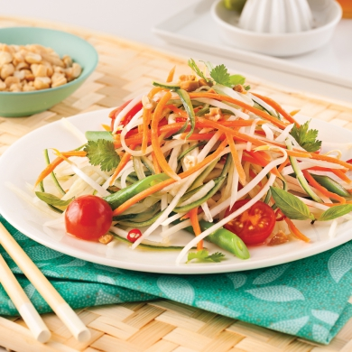 Salade de papaye verte recettes cuisine et nutrition pratico pratique - Salade verte calorie ...
