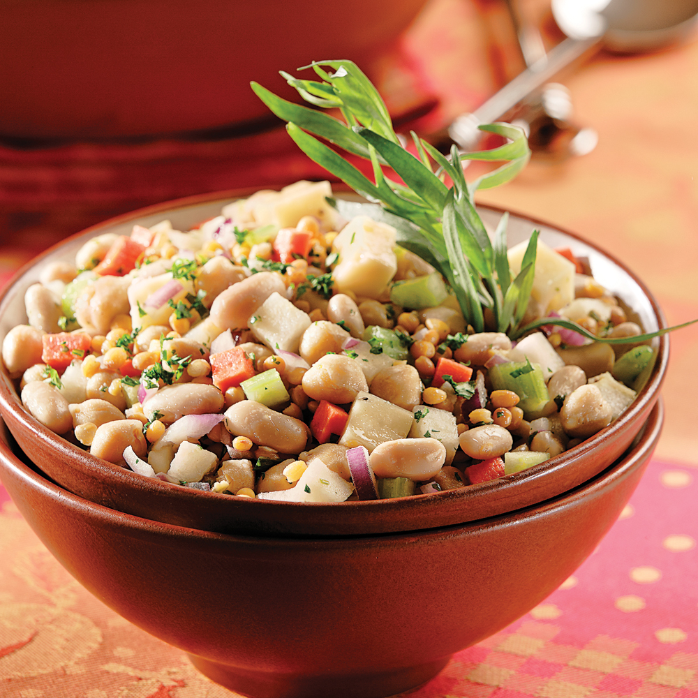 salade de l gumineuses aux haricots blancs recettes cuisine et nutrition pratico pratique. Black Bedroom Furniture Sets. Home Design Ideas