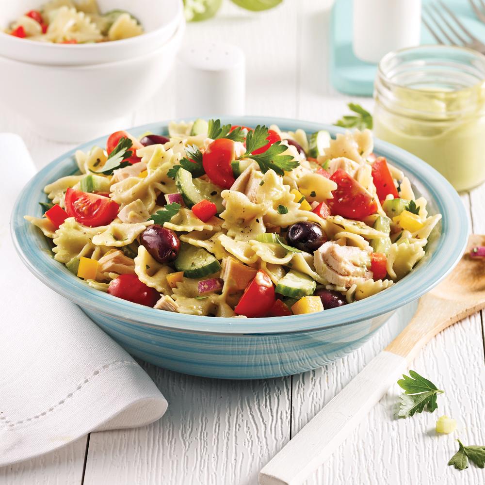 salade de p tes recettes cuisine et nutrition pratico pratique. Black Bedroom Furniture Sets. Home Design Ideas