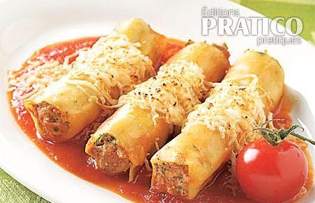 Cannellonis au veau gratin s recettes cuisine et nutrition pratico pratique - Cuisine italienne cannelloni ...