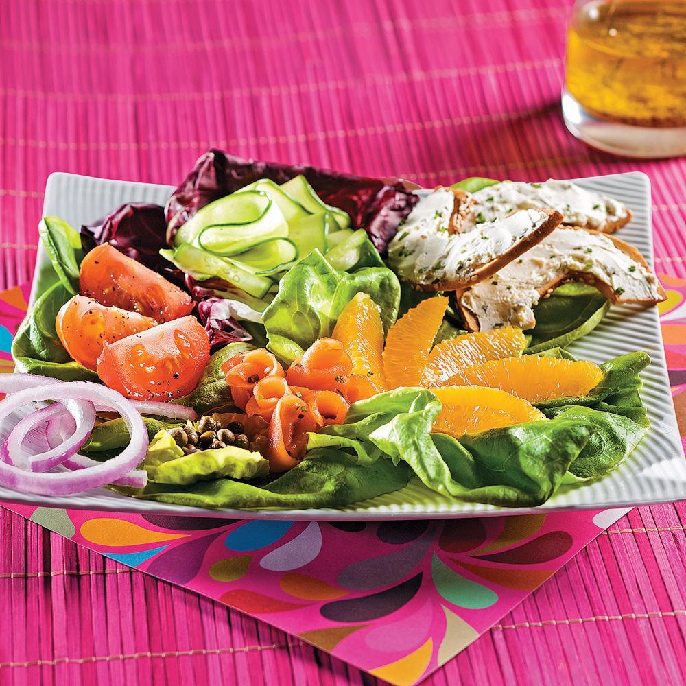 salade de saumon fum color e recettes cuisine et nutrition pratico pratique. Black Bedroom Furniture Sets. Home Design Ideas