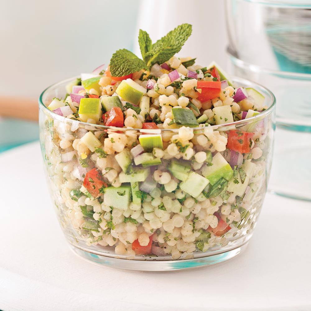 Salade de couscous isra lien pomme et menthe recettes cuisine et nutrition pratico pratique - Salade verte calorie ...