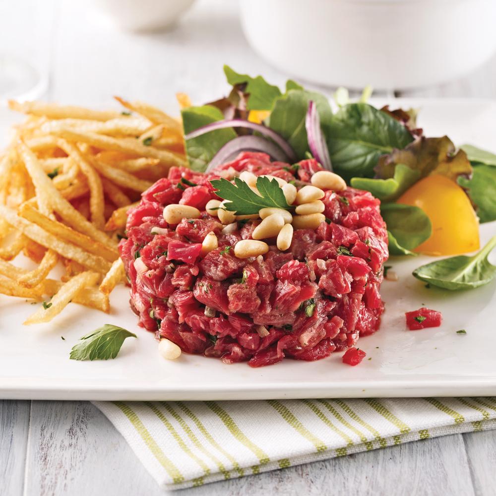 Tartare de boeuf et noix de pin recettes cuisine et nutrition pratico pratique - Tartare de boeuf cyril lignac ...