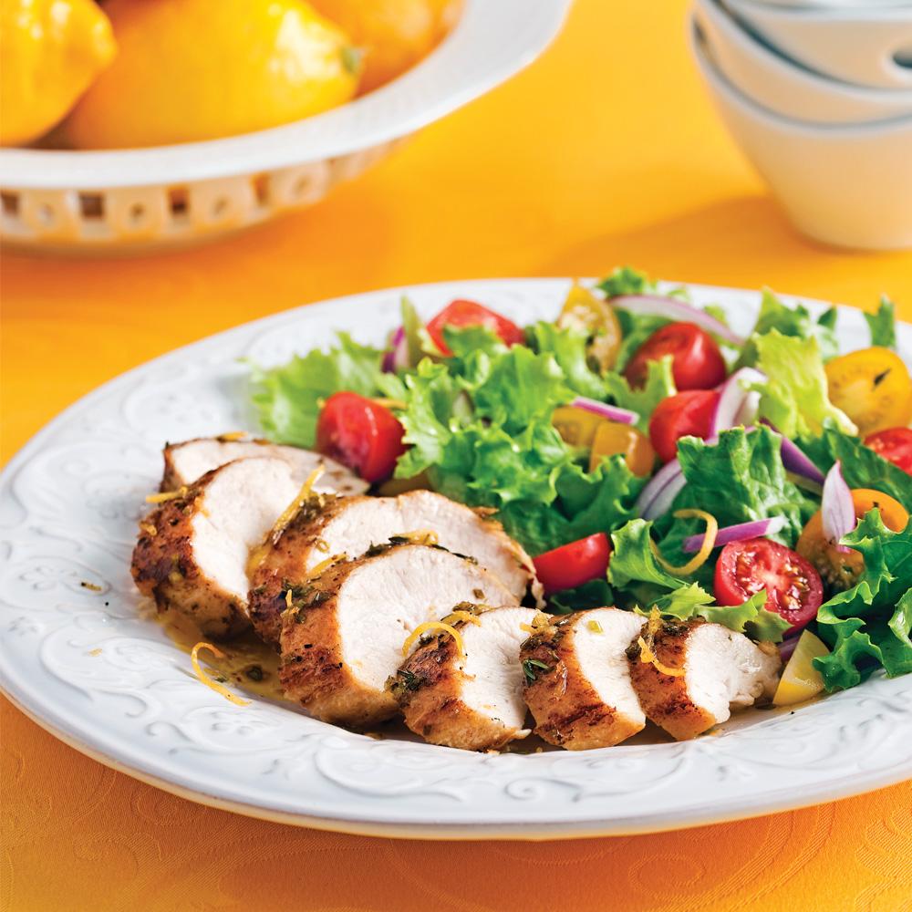 Poitrines de poulet au miel et citron recettes cuisine et nutrition pratico pratique - Recette saine et equilibree ...