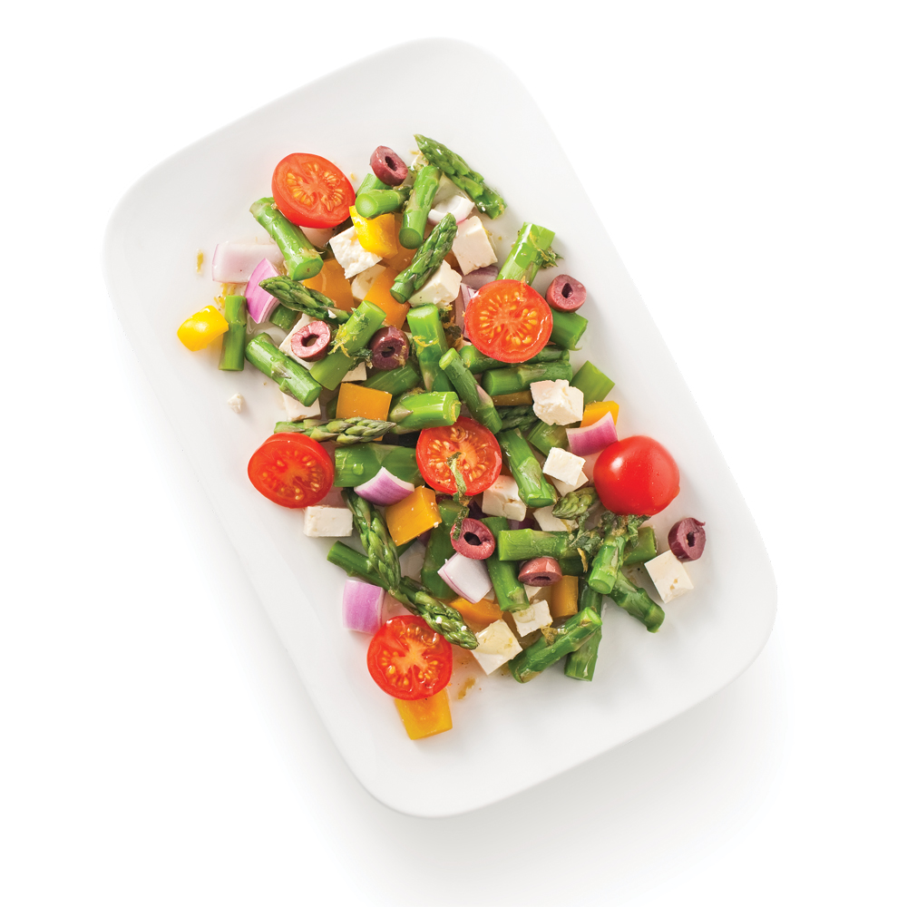 asperges en salade la grecque recettes cuisine et nutrition pratico pratique. Black Bedroom Furniture Sets. Home Design Ideas