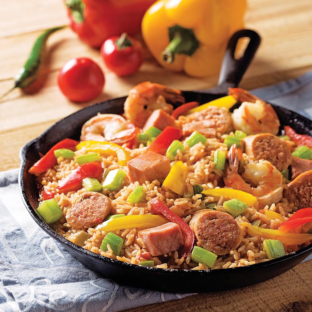 Jambalaya facile au four recettes cuisine et nutrition for Repas facile rapide et original