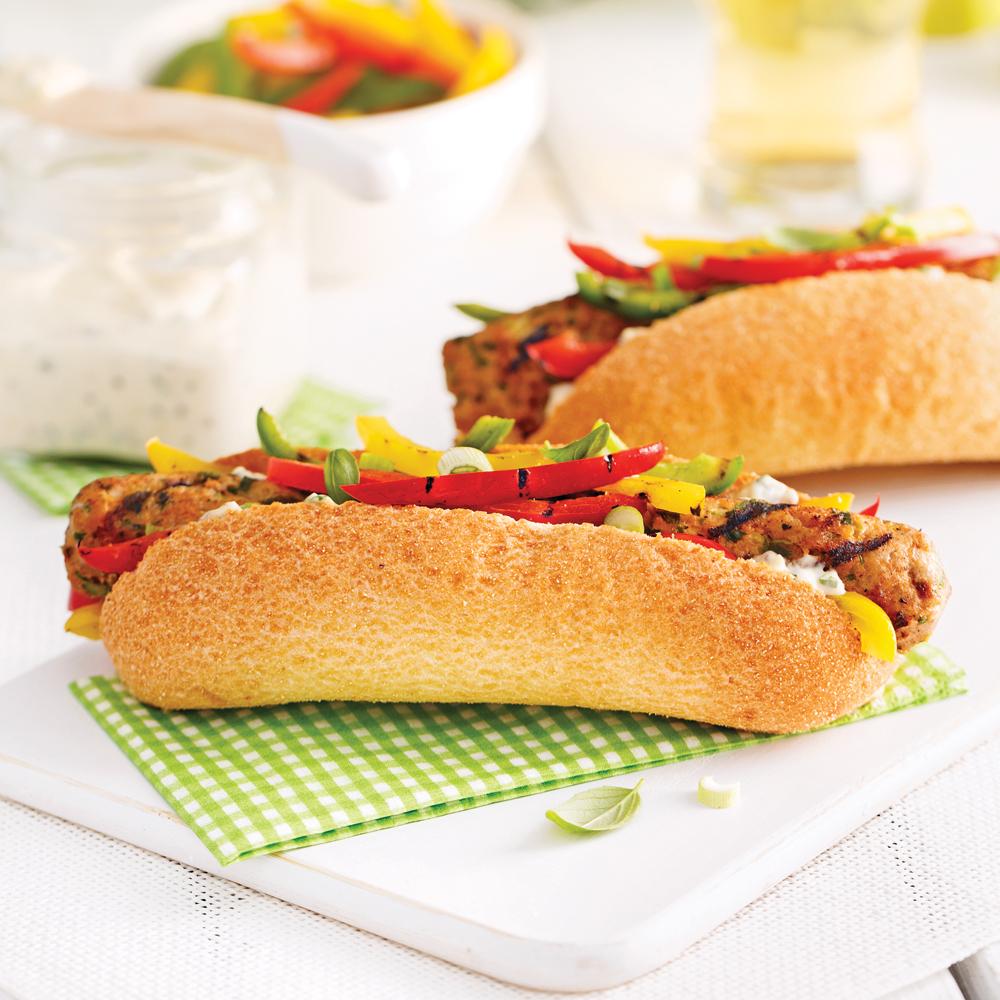 hot dog de veau et l gumes grill s recettes cuisine et nutrition pratico pratique. Black Bedroom Furniture Sets. Home Design Ideas