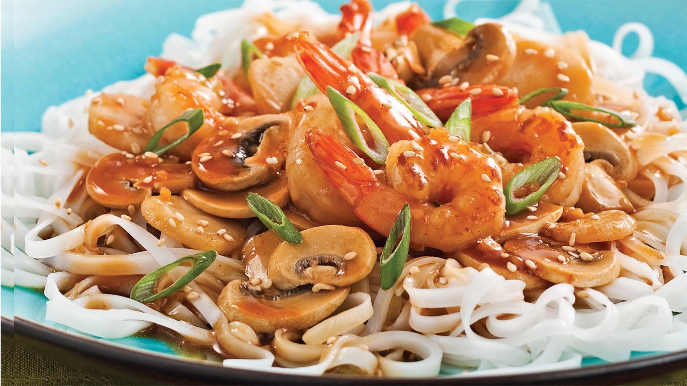 nouilles sautées au poulet thai