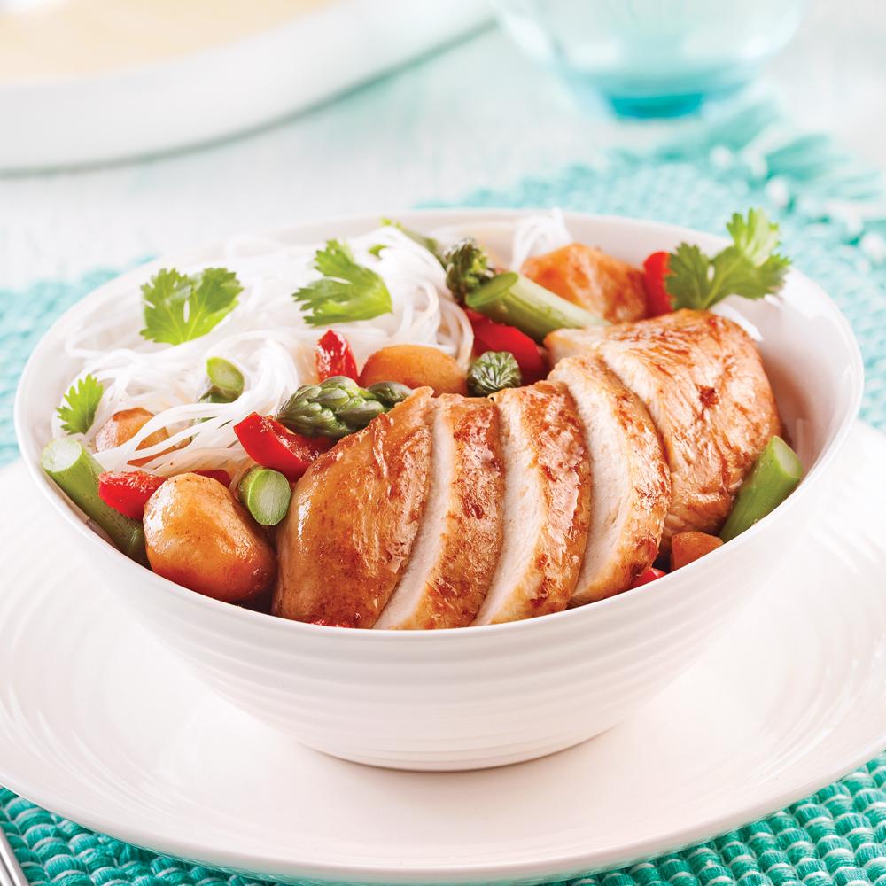 Saut de poulet au four et vermicelles la coriandre - Cuisine poulet au four ...